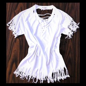 Perfect condition fringe T